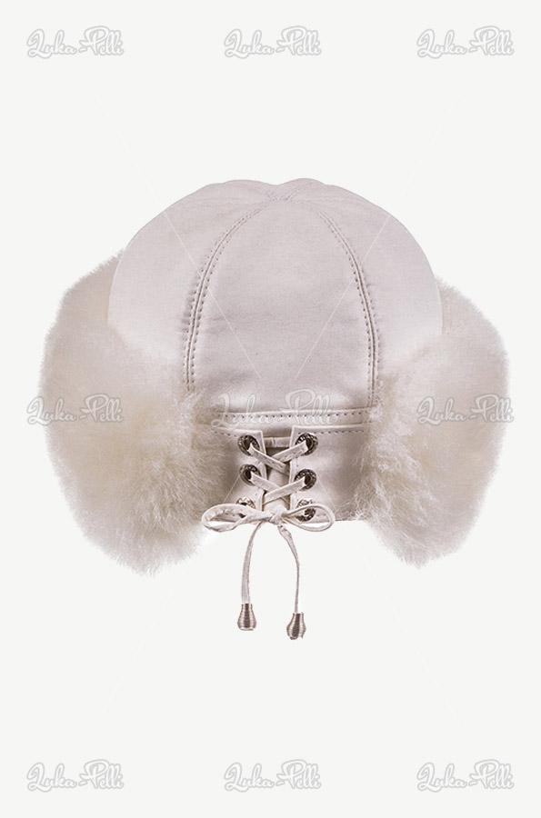 czapka damska skórzana