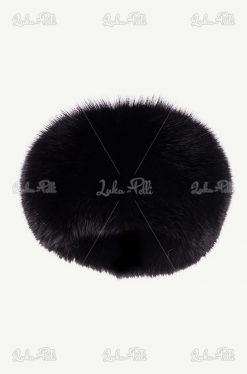 toczek futrzany lis czarny
