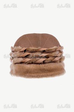 czapka skórzana
