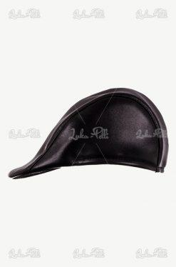 czapka męska skórzana kaszkiet czarny