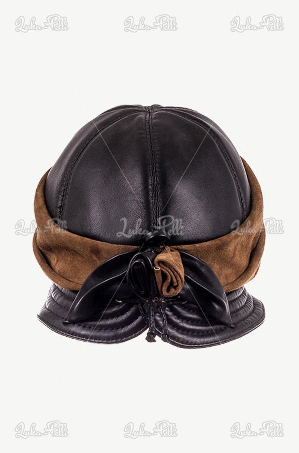 kapelusz skórzany damski
