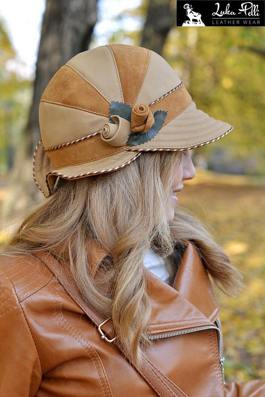 czapki skórzane wyroby skórzane