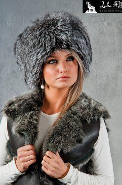 czapka futro lis