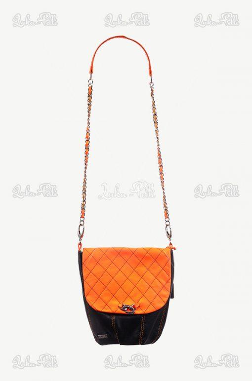 torebka skórzana pomarańczowa
