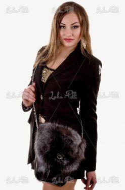 torebka skórzana futrzana lis