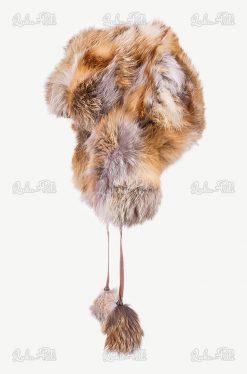 czapka futerkowa zimowa lis
