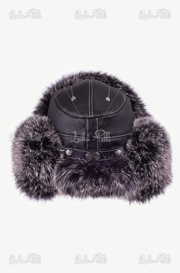 czapka pilotka futro lisa
