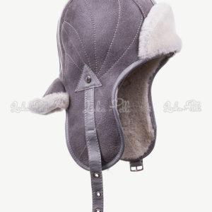 czapka skórzana zimowa