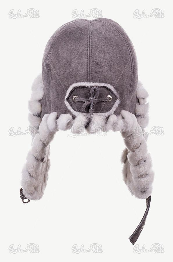 czapka zimowa szara