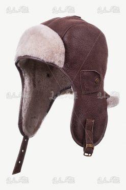 czapka zimowa skórzna męska