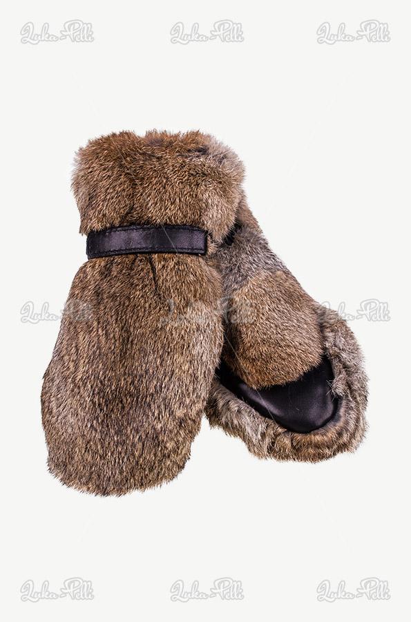 rękawiczki zimowe futrzane