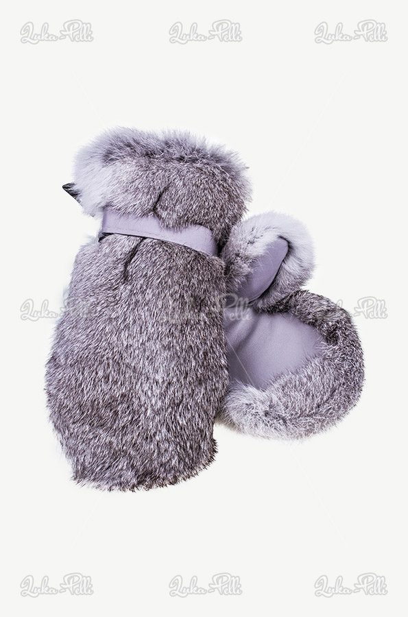 rękawiczki futro królika