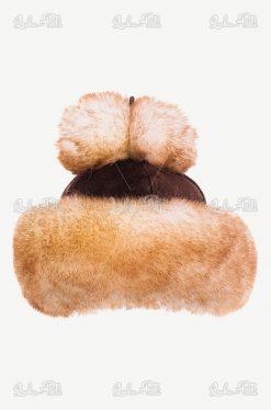 czapka skórzana damska