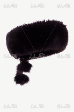 opaska futrzana damska czarna