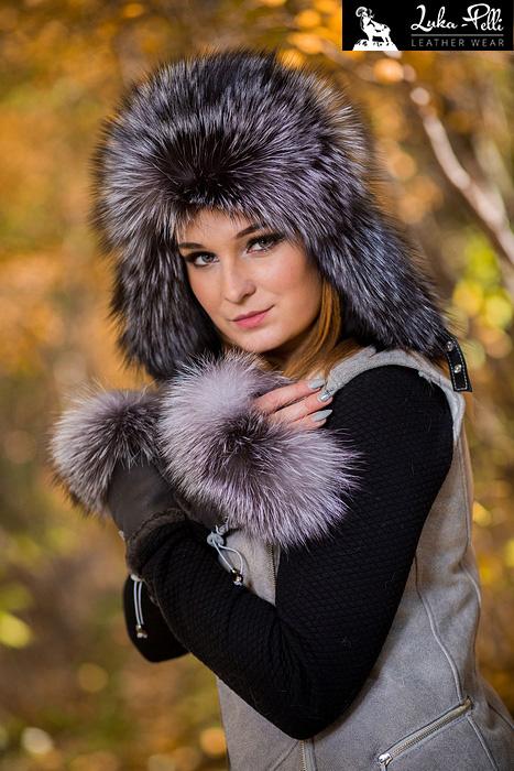 czapka damska futro