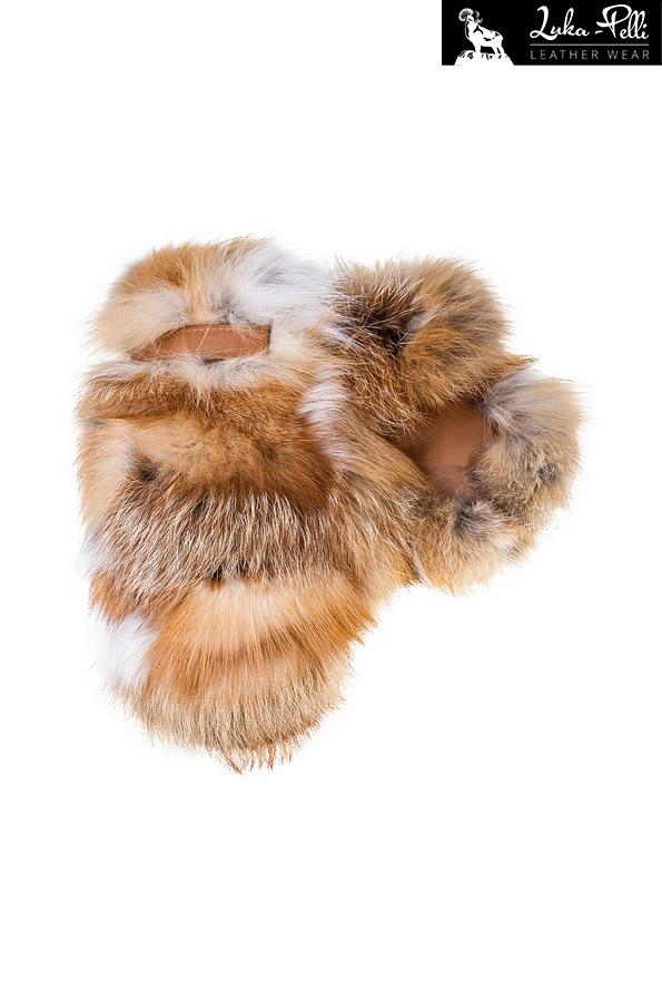 Rękawiczki futrzane lis