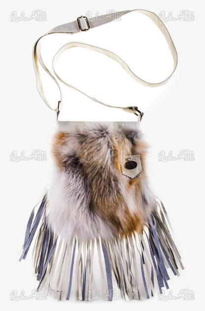 torebka futrzana listonoszka lis