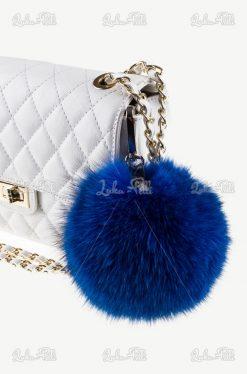 brelok pompon futrzany zawieszka do kluczy i torebki