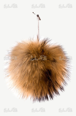 pompon futrzany do czapki lis