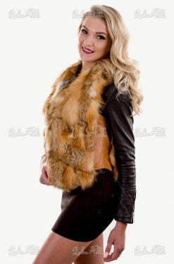 kamizelka damska zimowa lis