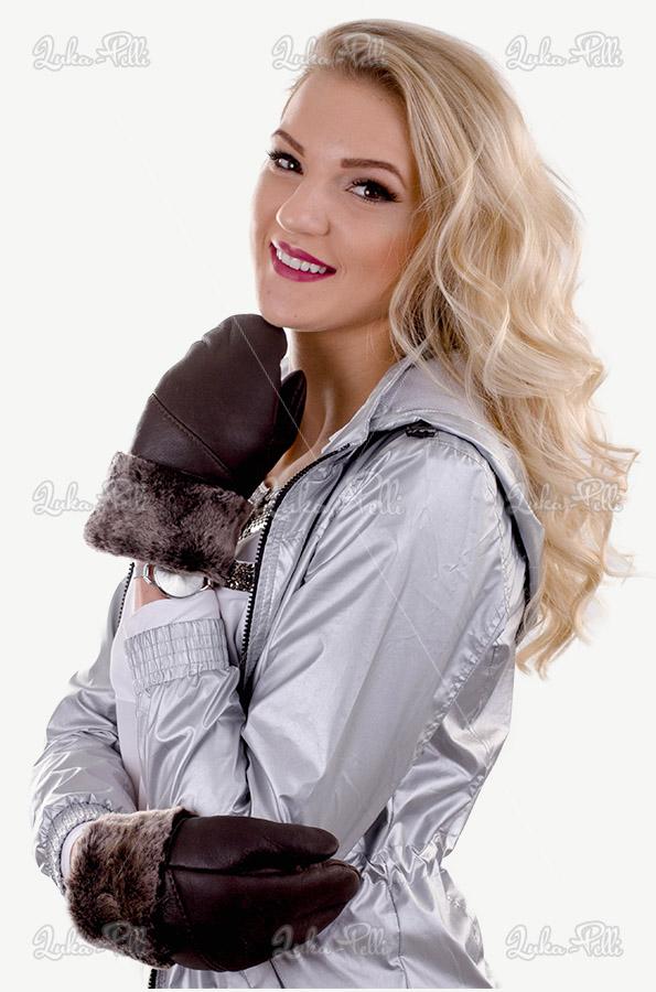 rękawiczki damskie skórzane jednopalczaste