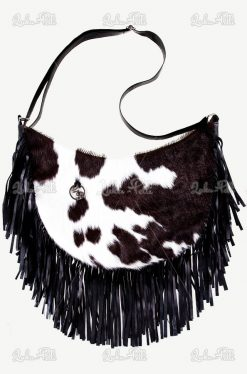 torebka damska skóra krowa torebka z frędzlami