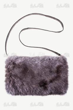 mufko torebka z futerkiem naturalnym