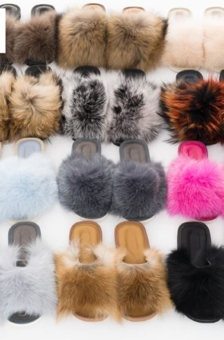 Women's slippers with fur