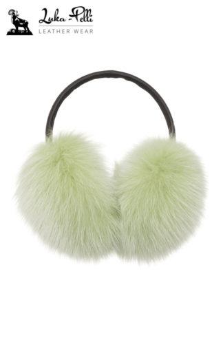 Nauszniki futrzane lis - odcienie zieleni