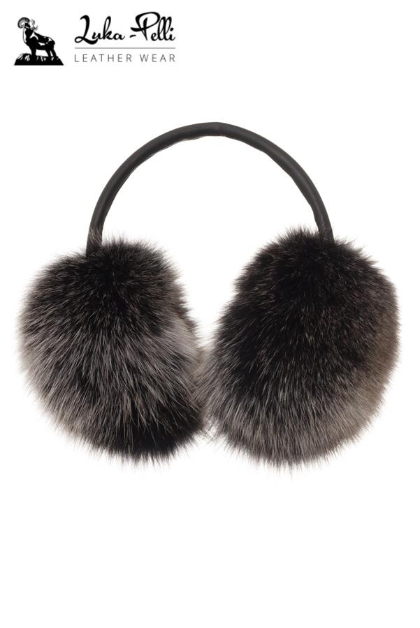 9b25fa398d30d Nauszniki futrzane lis snowtop czarny - Luka Pelli - sklep internetowy