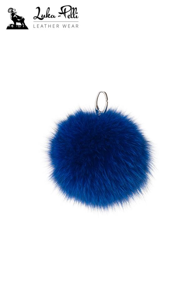 5f46cbd12342 Fur keychain - BALL - shades of blue - Luka Pelli - Online Store