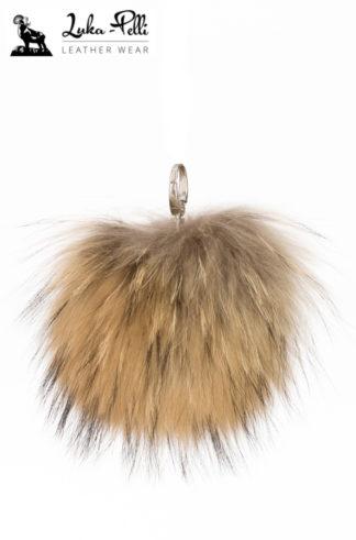 Brelok futrzany - KULKA długi włos naturalny