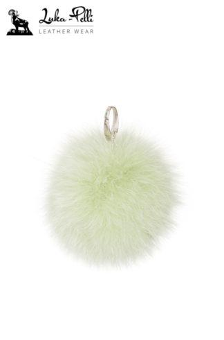 Brelok futrzany - KULKA w odcieniach zieleni