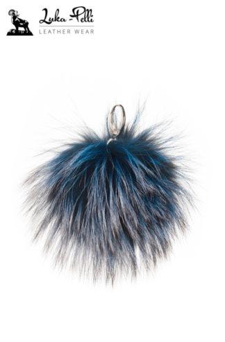 Brelok futrzany - KULKA długi włos kolor