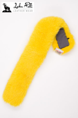 Futrzane obszycie do kaptura - żółty