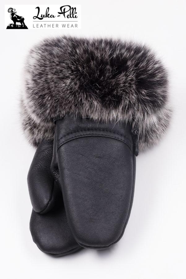 81e1f550784ae Rękawiczki skórzane ZARA snowtop czarny - Luka Pelli - sklep internetowy