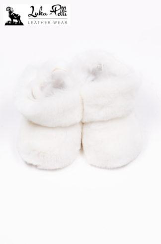 Buciki futrzane REX - białe