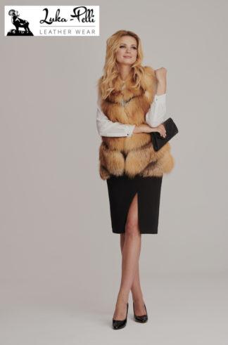 Kamizelka Futrzana ADEL-  golden fox