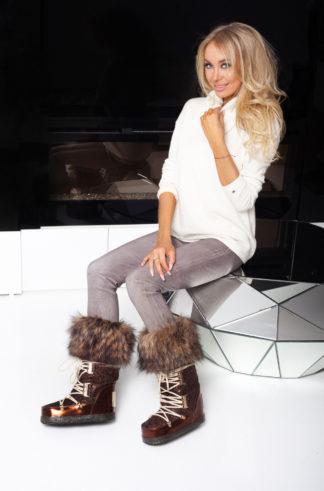 Buty śniegowce - whisky + obszycie jenot
