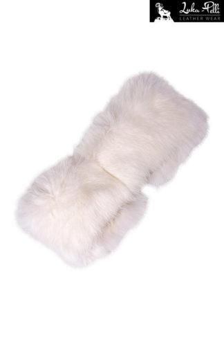 Opaska futrzana RABBIT biała